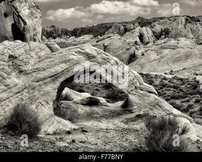 Arche blanche. Vallée de Feu Park, Nevada
