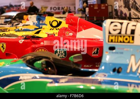 Essen, Allemagne. 27 novembre 2015. Essen Motor Show. Une histoire de la Formule 1. Benetton B194 Ford, Ferrari Banque D'Images