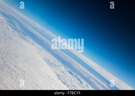 La planète Terre La planète bleue vue rapprochée de l'espace Banque D'Images