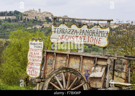 Montepulciano, Toscane, Italie Banque D'Images