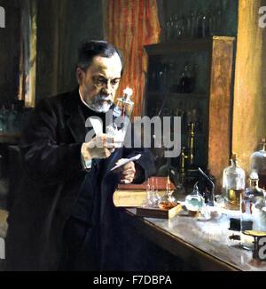Albert Edelfelt Louis Pasteur 1885 1854 1905 - Finlande France ( 1822 - 1895 Louis Pasteur chimiste et microbiologiste Banque D'Images