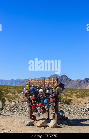 Plateau électrique junction road sign in Death Valley N.P, California, USA Banque D'Images