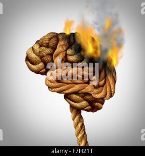 La perte de la fonction cérébrale et la perte de mémoire due à la démence et la maladie d'Alzheimer avec l'icône Banque D'Images