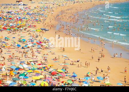 La plage de Rocha, Portimao, Algarve, Portugal