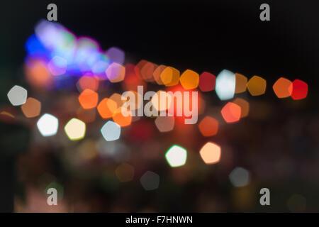 Résumé Lumières floues au festival de Loy Krathong, stock photo Banque D'Images