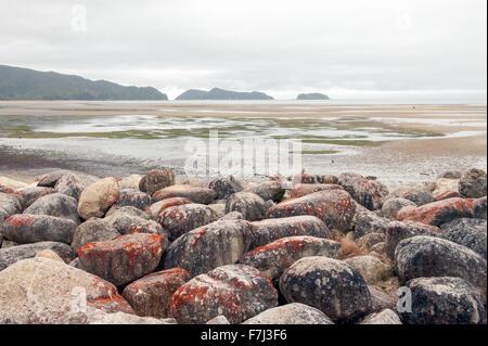 En vue de l'Abel Tasman Marahau, île du Sud, Nouvelle-Zélande Banque D'Images