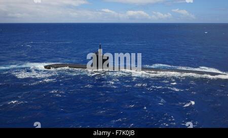 Sous-marin nucléaire, Oahu, Hawaii Banque D'Images