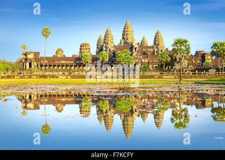 Angkor - ville monumentale qui est resté après l'ancienne capitale de l'empire Khmer, le Cambodge, Angkor Wat Temple, Banque D'Images