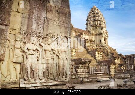 Temple d'Angkor Wat, au Cambodge, en Asie (UNESCO) Banque D'Images
