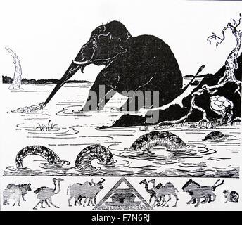 Juste pour des contes pour enfants publié en 1902 et écrit par Joseph Rudyard Kipling (1865 - 1936) écrivain français, Banque D'Images