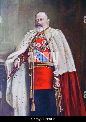 Le roi Édouard VII Banque D'Images