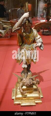 Statue de Saint Michel Archange. Saint Michel est considéré comme l'avocat des Juifs et aussi comme un protecteur Banque D'Images