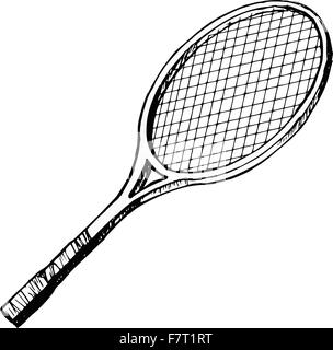 batte de tennis Banque D'Images