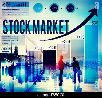 Stock Market Stock Exchange Trade Concept numérique Banque D'Images