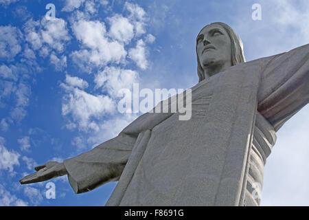 Célèbre le Christ Rédempteur à Rio de Janeiro, Brésil Banque D'Images
