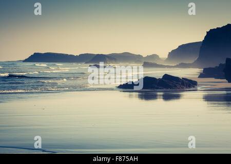 Plage de Las Catedrales en Galice, Espagne. Paradise beach à Ribadeo, Espagne Banque D'Images