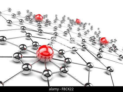 Concept Internet et réseau.3D net