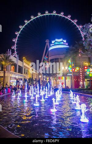 Le High Roller à la Linq, un coin repas et de commerces au centre de la Las Vegas Banque D'Images
