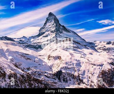 View of Matterhorn, Zermatt, Suisse Banque D'Images