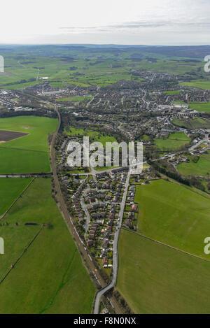Une vue aérienne de la ville de Penistone Yorkshire