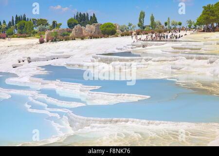 Terrasses calcaires de Pamukkale, Turquie, Banque D'Images