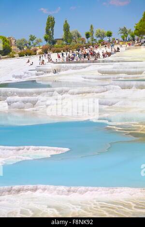 Pamukkale, terrasses de calcaire, la Turquie, l'UNESCO Banque D'Images