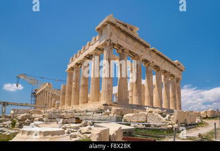 Athènes - l'Acropole, le Parthénon Temple, Grèce Banque D'Images