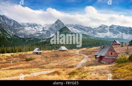 Vallée gąsienicowa - montagnes Tatras, Pologne Banque D'Images