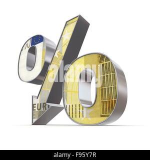 Shiny pourcentage en baisse - 200 Euro Note Texture Banque D'Images