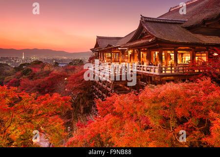 Kyoto, Japon, le Temple Kiyomizu-dera. Banque D'Images