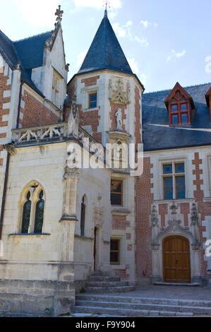 Clos-Lucé, la demeure de Léonard de Vinci entre 1516-1519, Amboise, Loire, Indre-et-Loire, France Banque D'Images