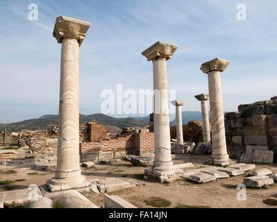 L'église de St Jean (Basilique de St Jean) Selcuk, Izmir Province, Région de la mer Egée, la Turquie. Banque D'Images