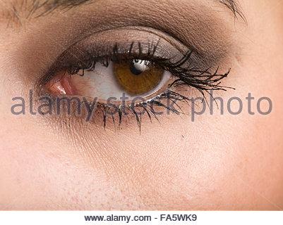 Close Up, Portrait, gros plan, d'un Eye Banque D'Images