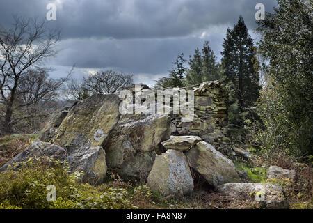 L'éperon rocheux et fort à Stoneywell, Leicestershire. Banque D'Images