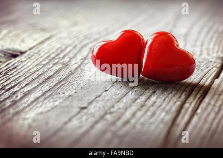 Deux coeurs dans l'amour Banque D'Images