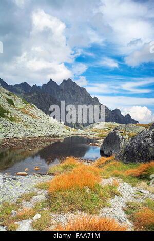 Sesterske lake, Tatras, Slovaquie Banque D'Images
