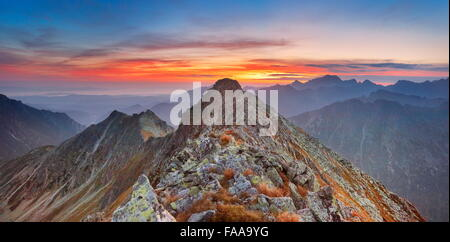 Montagnes Tatra, sunrise Banque D'Images