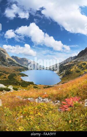 Les montagnes de Tatra, cinq lacs Valley, Pologne Banque D'Images