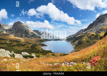 Les montagnes de Tatra, cinq lacs Valley, Pologne