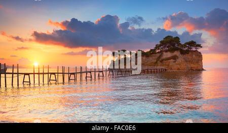 L'île de Zakynthos, Grèce - Agios Sostis paysage de l'île au lever du soleil, Laganas Banque D'Images