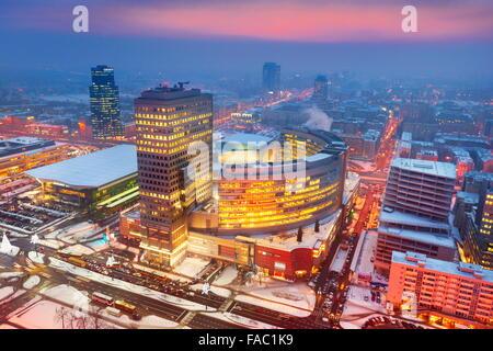 Varsovie - vue de la zone commerciale de PKiN, Pologne
