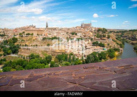 Sommaire du point de vue et plan de la ville. Toledo, Espagne. Banque D'Images