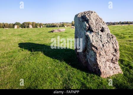 Stanton Drew Stone Circle (cercle de pierres de la deuxième plus grande en Grande-Bretagne) datant de 3000-2000BC Banque D'Images