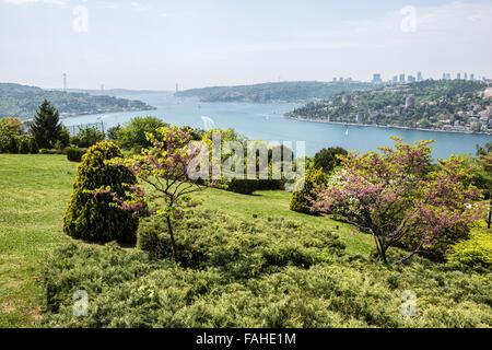 D'Otagtepe avec vue sur le Bosphore à Istanbul, Turquie Banque D'Images