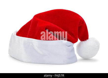 Red Christmas Santa Hat isolé sur fond blanc.
