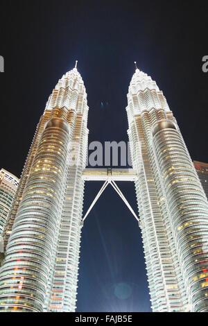 Les Tours Petronas à Kuala Lumpur - Malaisie Banque D'Images