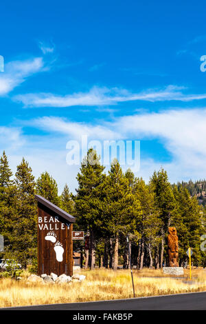 Bear Valley Resort en Californie le long de la route 4 dans les montagnes de la Sierra Nevada une année resort Banque D'Images