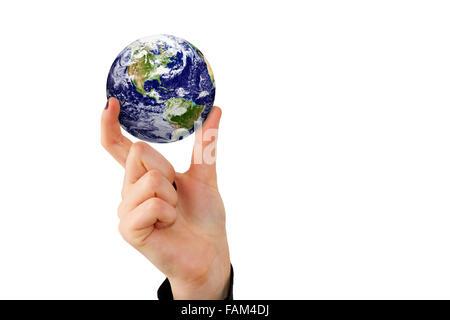 La terre dans le doigt - éléments de cette image fournie par la NASA