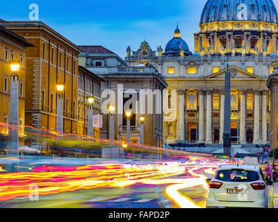 Cité du Vatican à Rome, Italie Banque D'Images