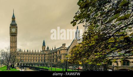 Big Ben et les chambres du Parlement, Londres, Royaume-Uni. Banque D'Images